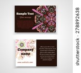 business card templates ... | Shutterstock .eps vector #278892638