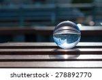 glass transparent ball on