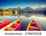 fantastic mountain lake in... | Shutterstock . vector #278893028