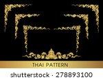 thai art pattern vector   Shutterstock .eps vector #278893100