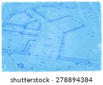 architecture blueprint   house... | Shutterstock . vector #278894384