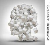 sugar addiction concept as a... | Shutterstock . vector #278894744