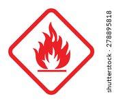 flammable material | Shutterstock .eps vector #278895818