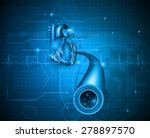cardiology abstract blue... | Shutterstock . vector #278897570