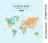 World Map Full Color High...
