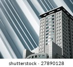modern building on montage... | Shutterstock . vector #27890128