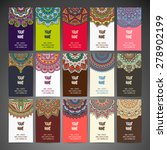 business card. vintage... | Shutterstock .eps vector #278902199