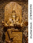 Small photo of Ganesh carved wood