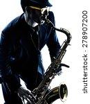 One Caucasian Man  Saxophonist...