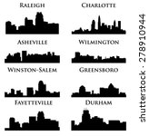 8 city in north carolina  ... | Shutterstock .eps vector #278910944