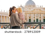in profile  a mother and... | Shutterstock . vector #278912009