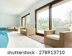 modern huge mansion with a...   Shutterstock . vector #278913710
