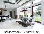 the bright dining room... | Shutterstock . vector #278914154