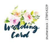 watercolor greeting card... | Shutterstock .eps vector #278914229