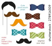 cute photo booth props... | Shutterstock .eps vector #278916509