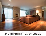 spacious family room with... | Shutterstock . vector #278918126