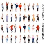 people diversity isolated over... | Shutterstock . vector #278918270