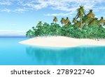 3d render of a tropical island... | Shutterstock . vector #278922740