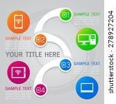 illustration of infographic... | Shutterstock .eps vector #278927204