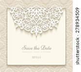 elegant save the date card with ... | Shutterstock .eps vector #278934509