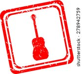 acoustic guitar icon  red...
