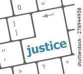 Law Concept  Justice Button On...