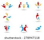 human symbols  | Shutterstock . vector #278947118