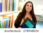 happy young art student at the... | Shutterstock . vector #278948024