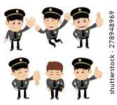 set of policeman characters in... | Shutterstock .eps vector #278948969