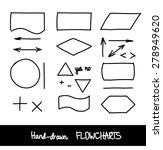 hand drawn vector flowchart... | Shutterstock .eps vector #278949620