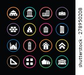architecture icons universal... | Shutterstock . vector #278950208
