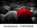 red umbrella stand out from the ... | Shutterstock . vector #278950868