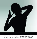 vector image   woman silhouette ... | Shutterstock .eps vector #278959463