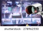 cctv security camera monitor in ...
