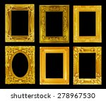 the antique gold frame on the... | Shutterstock . vector #278967530