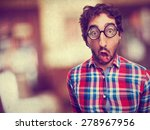 shocked crazy man | Shutterstock . vector #278967956