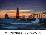 Sunset At The Grand Haven Sout...