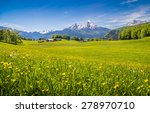idyllic landscape in the alps... | Shutterstock . vector #278970710