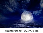 moon and sea | Shutterstock . vector #27897148