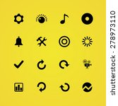 audio icons universal set for... | Shutterstock . vector #278973110