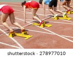 sports meeting  the athlete... | Shutterstock . vector #278977010