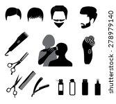 barbershop symbols   Shutterstock .eps vector #278979140