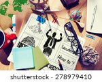 successful goal target... | Shutterstock . vector #278979410