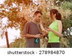 taking a break from running | Shutterstock . vector #278984870