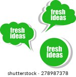 fresh ideas. set of stickers ... | Shutterstock .eps vector #278987378
