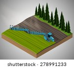 vector isometric illustration... | Shutterstock .eps vector #278991233