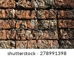 compressed crushed cars.   Shutterstock . vector #278991398