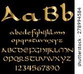 decorative gold font | Shutterstock .eps vector #278994584
