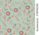 ornate floral seamless texture  ... | Shutterstock .eps vector #278996540