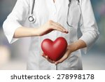 doctor with heart in hospital | Shutterstock . vector #278998178